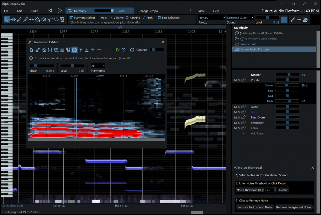 Audio Manipulation with RipX DeepAudio