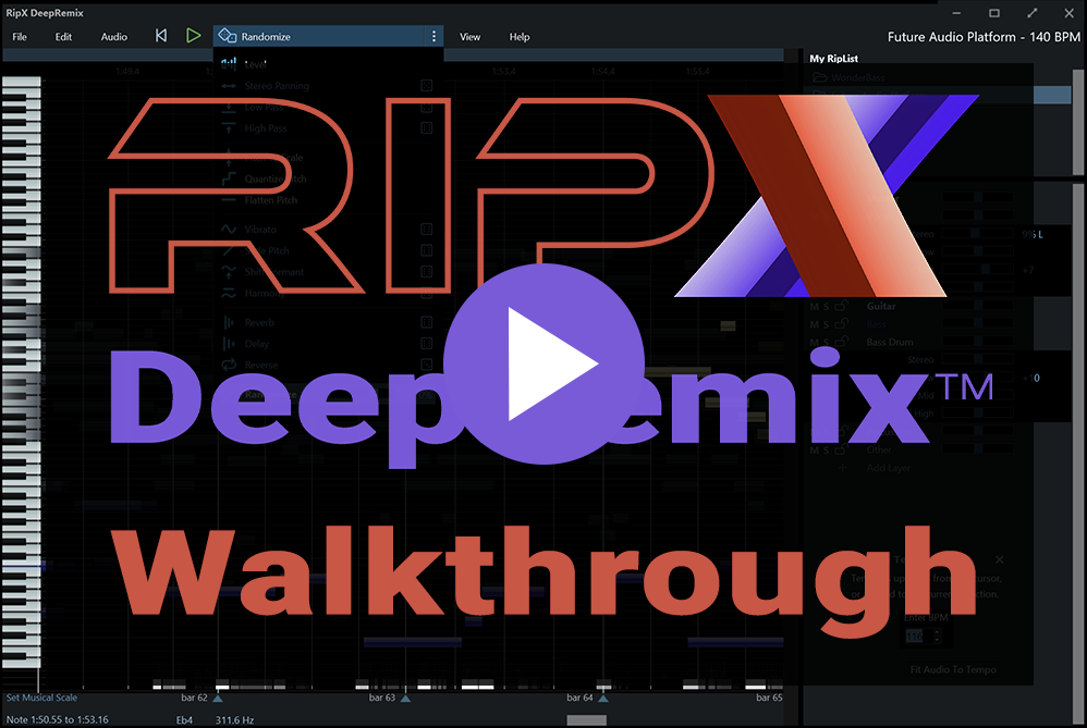 Remove Vocals, Drums, Create Stems and Remix songs with DeepRemix